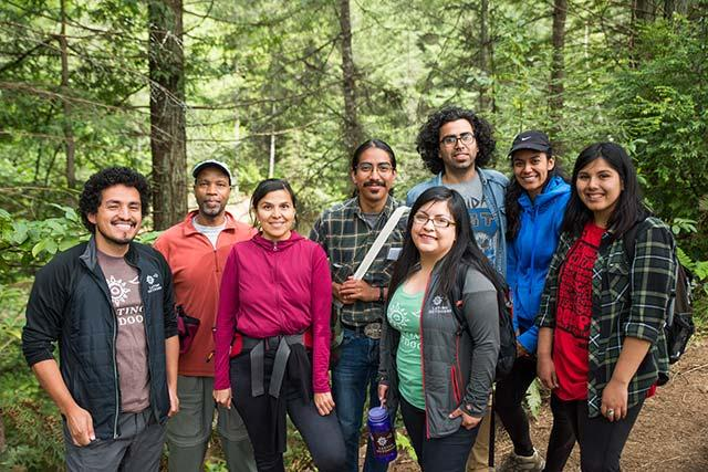 Students join Latino Outdoors for community forest hike